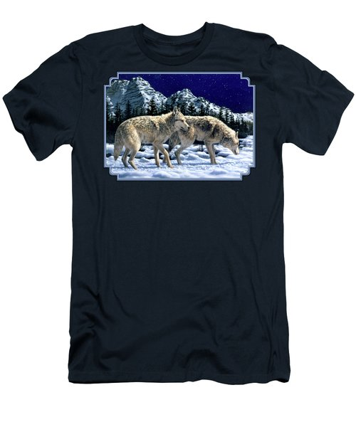 Wolves - Unfamiliar Territory Men's T-Shirt (Slim Fit) by Crista Forest