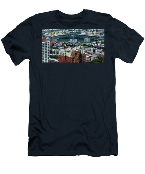 Wrigley Field Park Place Towers During The Day Dsc4743 Men's T-Shirt (Slim Fit) by Raymond Kunst