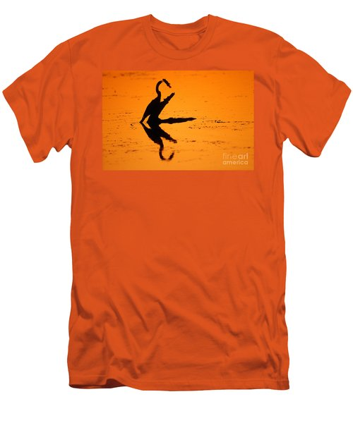 Anhinga Men's T-Shirt (Slim Fit) by Art Wolfe