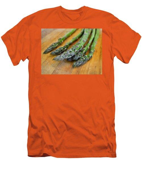Asparagus Men's T-Shirt (Slim Fit) by Michelle Calkins