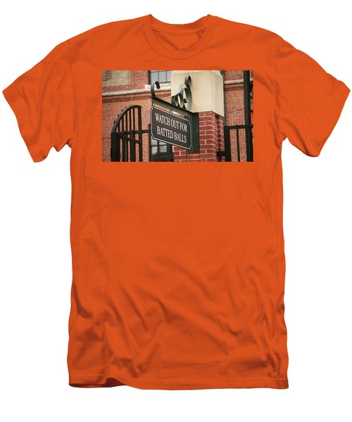 Baseball Warning Men's T-Shirt (Slim Fit) by Frank Romeo