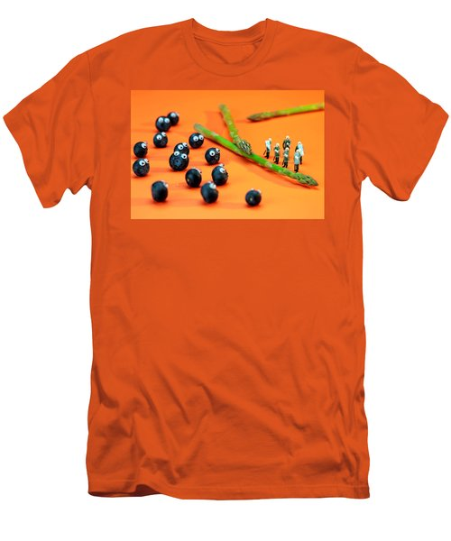 Blueberry Protesting Men's T-Shirt (Slim Fit) by Paul Ge