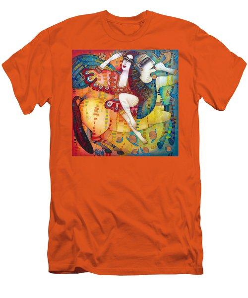 Centaur In Love Men's T-Shirt (Slim Fit) by Albena Vatcheva