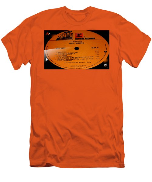 Harvest Neil Young Side 2 Men's T-Shirt (Slim Fit) by Marcello Cicchini
