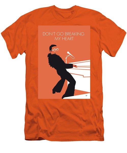 No053 My Elton John Minimal Music Poster Men's T-Shirt (Slim Fit) by Chungkong Art