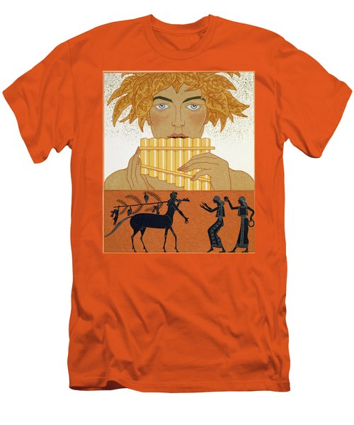 Pan Piper Men's T-Shirt (Slim Fit) by Georges Barbier