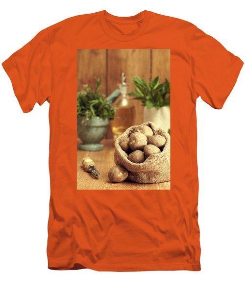 Potatoes Men's T-Shirt (Slim Fit) by Amanda Elwell