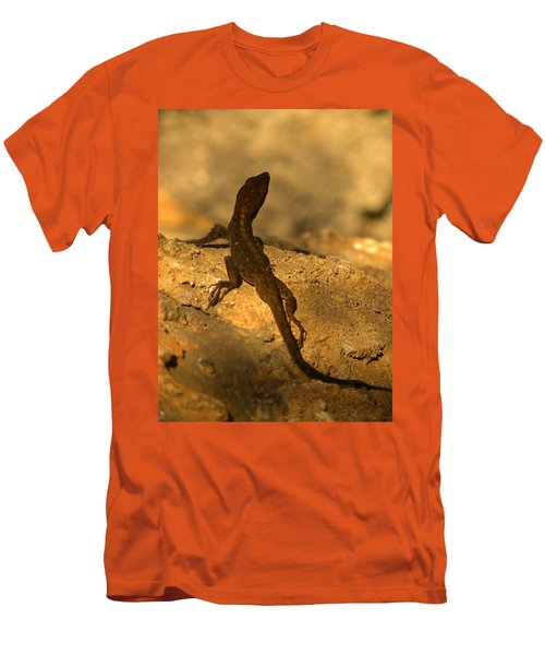 Leapin' Lizards Men's T-Shirt (Slim Fit) by Trish Tritz