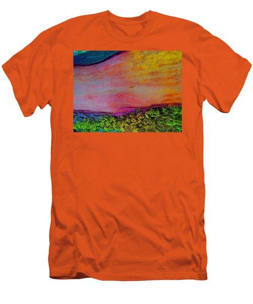 Men's T-Shirt (Slim Fit) featuring the digital art Walk Into The Future by Richard Laeton
