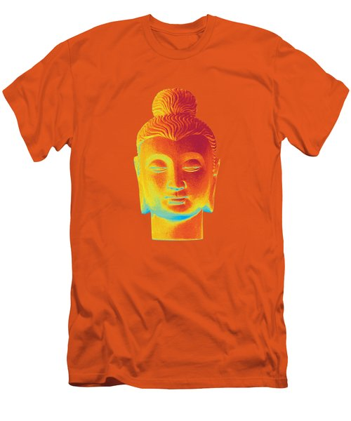 colorful Buddha - Gandhara Men's T-Shirt (Slim Fit) by Terrell Kaucher