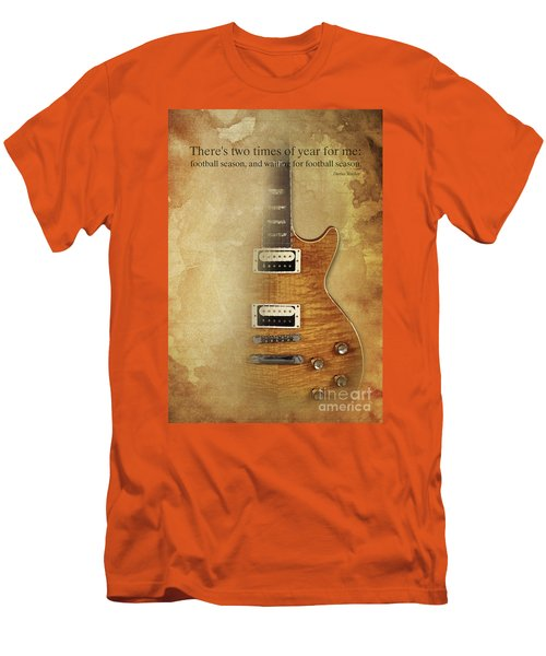 Darius Rucker Inspirational Quote, Electric Guitar Poster For Music Lovers And Musicians Men's T-Shirt (Slim Fit) by Pablo Franchi