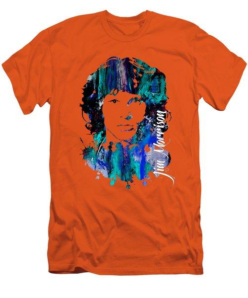 Jim Morrison Collecton Men's T-Shirt (Slim Fit) by Marvin Blaine