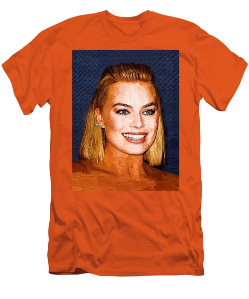 Margot Robbie Art Men's T-Shirt (Slim Fit) by Best Actors