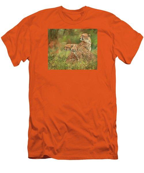 Cheetahs Men's T-Shirt (Slim Fit) by David Stribbling