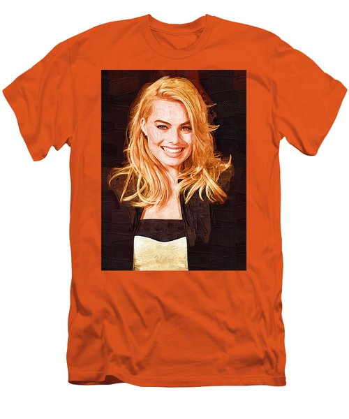 Margot Robbie Painting Men's T-Shirt (Slim Fit) by Best Actors