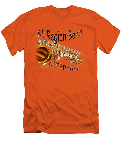 All Region Band Saxophone Men's T-Shirt (Slim Fit) by M K  Miller