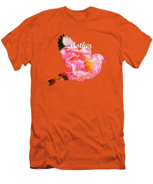 Roses - Verse Men's T-Shirt (Slim Fit) by Anita Faye