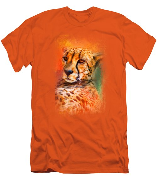 Colorful Expressions Cheetah Men's T-Shirt (Slim Fit) by Jai Johnson