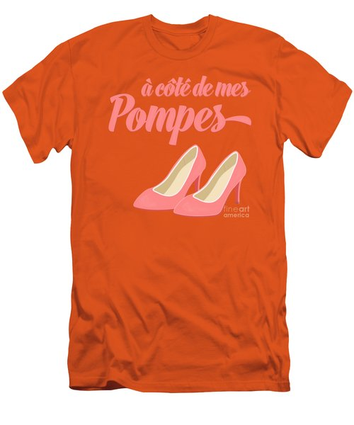 Pink High Heels French Saying Men's T-Shirt (Slim Fit) by Antique Images