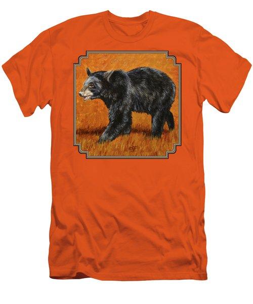 Autumn Black Bear Men's T-Shirt (Slim Fit) by Crista Forest