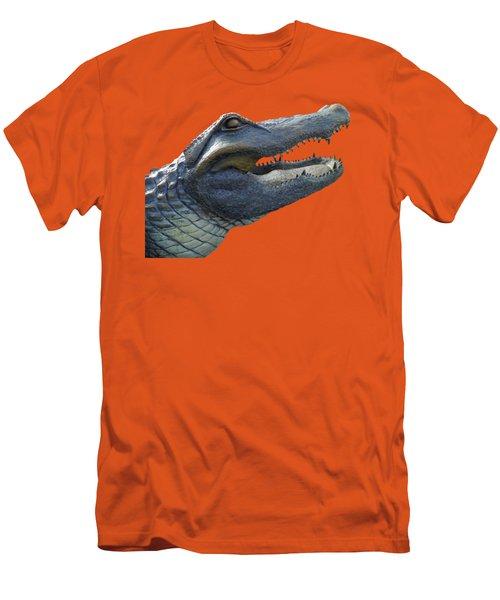 Bull Gator Portrait Transparent For T Shirts Men's T-Shirt (Slim Fit) by D Hackett