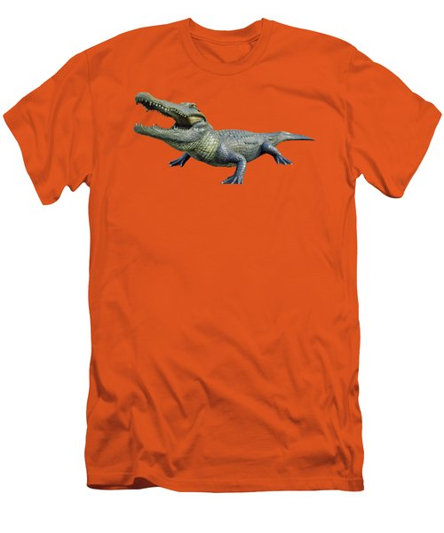 Bull Gator Transparent For T Shirts Men's T-Shirt (Slim Fit) by D Hackett