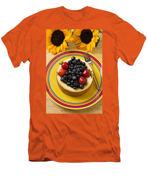 Cheesecake With Fruit Men's T-Shirt (Slim Fit) by Garry Gay