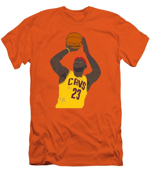 Cleveland Cavaliers - Lebron James - 2014 Men's T-Shirt (Slim Fit) by Troy Arthur Graphics