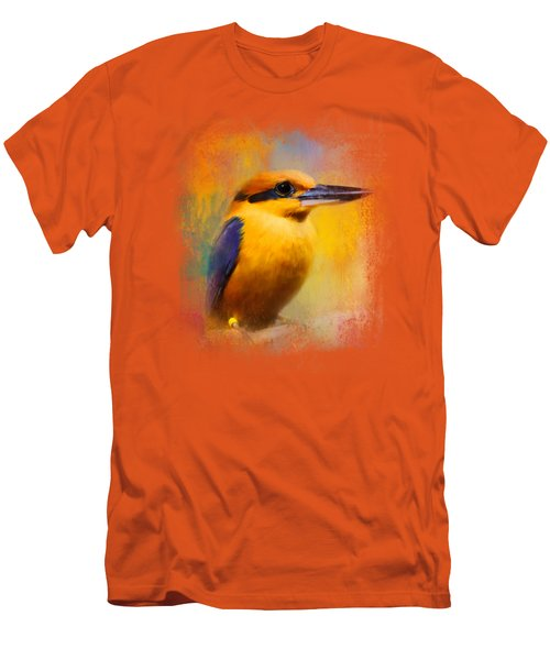 Colorful Expressions Kingfisher Men's T-Shirt (Slim Fit) by Jai Johnson