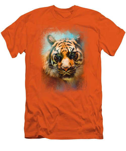 Colorful Expressions Tiger 2 Men's T-Shirt (Slim Fit) by Jai Johnson