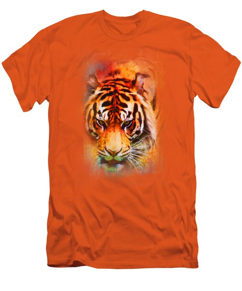Colorful Expressions Tiger Men's T-Shirt (Slim Fit) by Jai Johnson