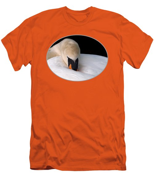 Do Not Disturb - Orange Men's T-Shirt (Slim Fit) by Gill Billington