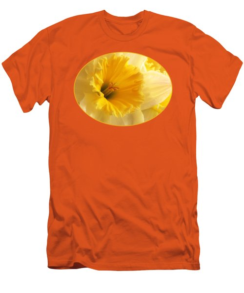 Focus On Spring - Daffodil Close Up Men's T-Shirt (Slim Fit) by Gill Billington