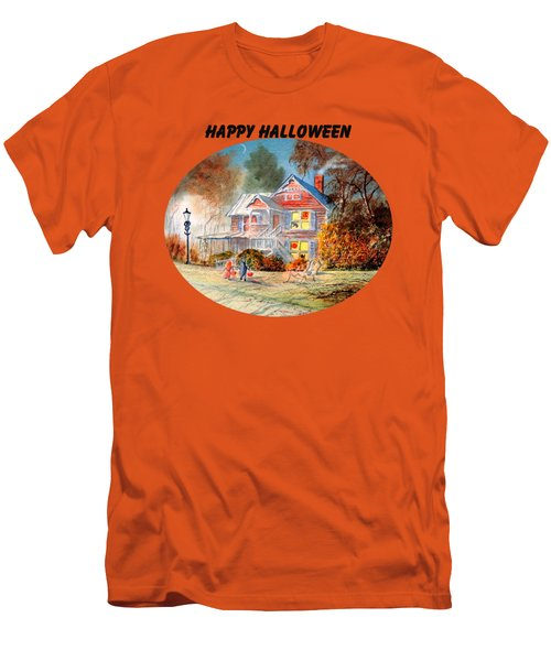 Happy Halloween Men's T-Shirt (Slim Fit) by Bill Holkham