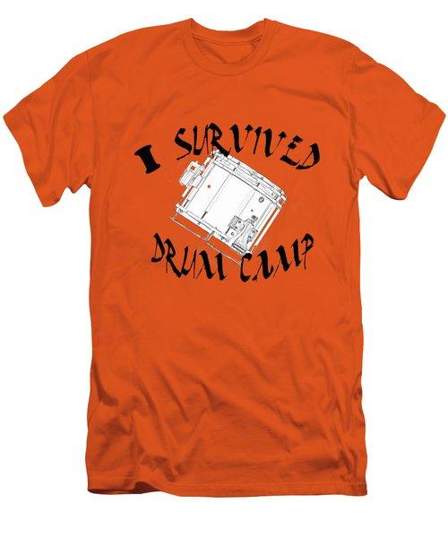I Survived Drum Camp Men's T-Shirt (Slim Fit) by M K  Miller