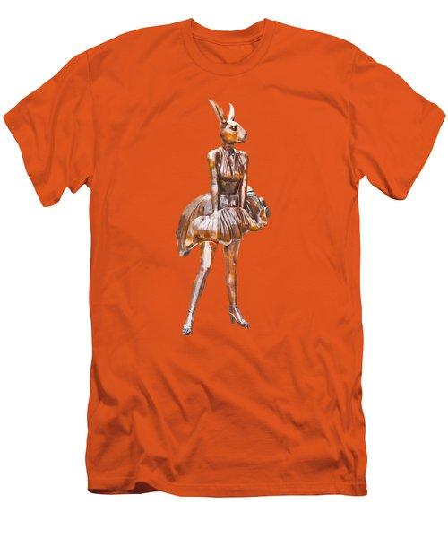 Kangaroo Marilyn Men's T-Shirt (Slim Fit) by Susan Vineyard