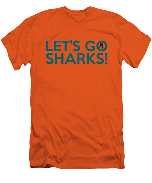 Let's Go Sharks Men's T-Shirt (Slim Fit) by Florian Rodarte