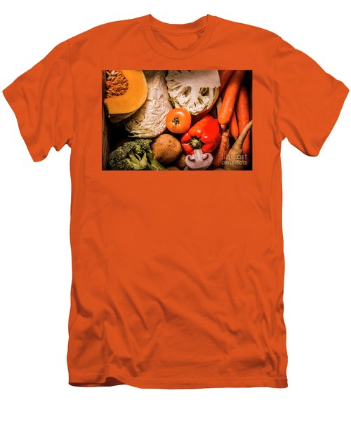 Mixed Vegetable Produce Pack Men's T-Shirt (Slim Fit) by Jorgo Photography - Wall Art Gallery