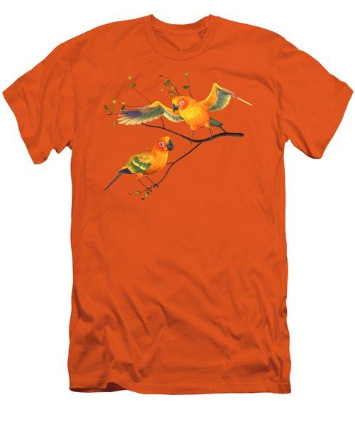 Parrots Conure Men's T-Shirt (Slim Fit) by Diane Leenknegt