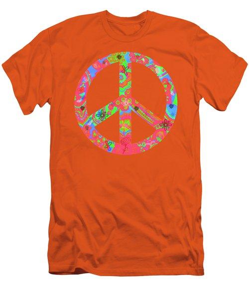 Peace Men's T-Shirt (Slim Fit) by Linda Lees