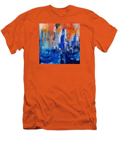 Philadelphia Skyline 227 1 Men's T-Shirt (Slim Fit) by Mawra Tahreem