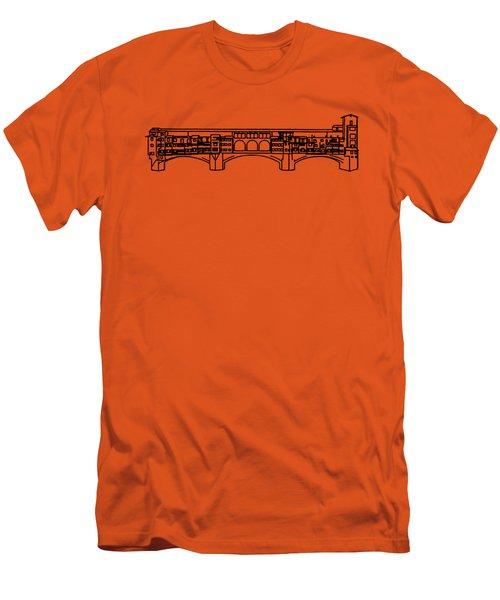 Ponte Vecchio Florence Tee Men's T-Shirt (Slim Fit) by Edward Fielding