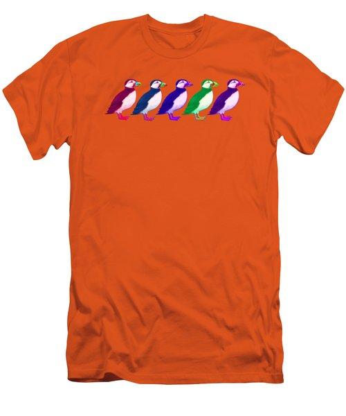 Puffins Apparel Design Men's T-Shirt (Slim Fit) by Teresa Ascone