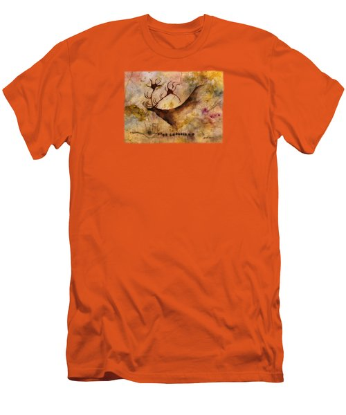 Red Deer Men's T-Shirt (Slim Fit) by Hailey E Herrera