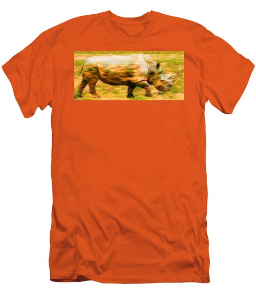 Rhinocerace Men's T-Shirt (Slim Fit) by Caito Junqueira