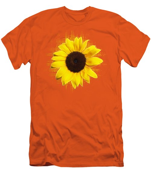 Sunflower Sunburst Men's T-Shirt (Slim Fit) by Gill Billington