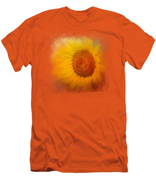 Sunflower Surprise Men's T-Shirt (Slim Fit) by Jai Johnson