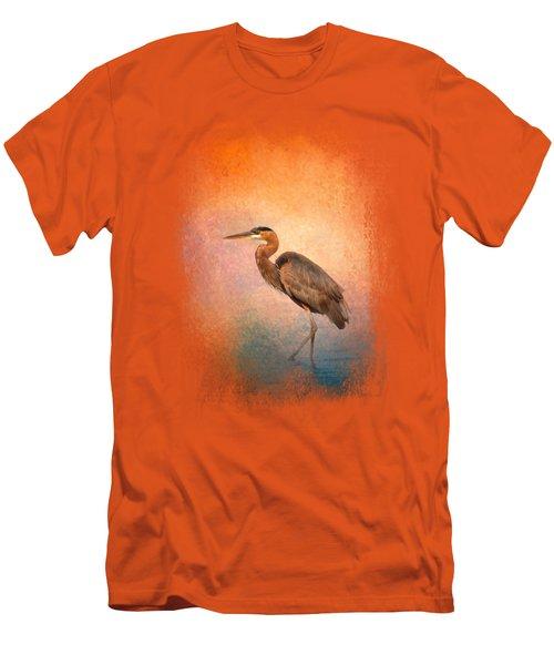 Sunset Heron Men's T-Shirt (Slim Fit) by Jai Johnson