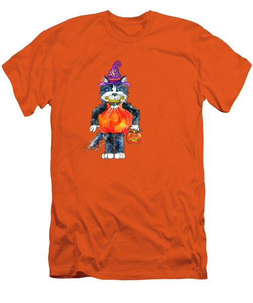 Trick Or Treat Men's T-Shirt (Slim Fit) by Shelley Wallace Ylst