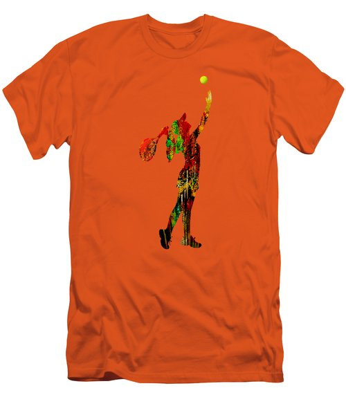 Womens Tennis Collection Men's T-Shirt (Slim Fit) by Marvin Blaine